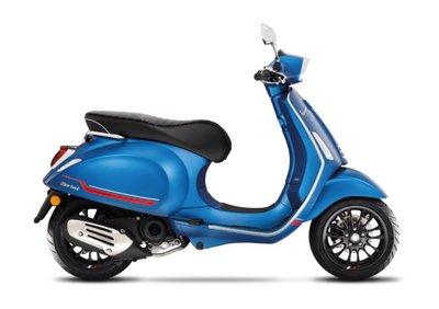 Vespa Sprint S BLU VIVACE MATT mat blauw E5 I-GET RIJKLAAR